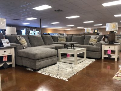 Perth Pewter Sectional 6820 Darseys Furniture and Mattress Store in Grapeland Texas 75844